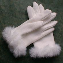 Pure white gloves