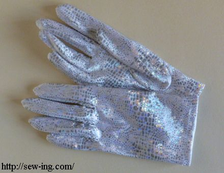 White snake gloves