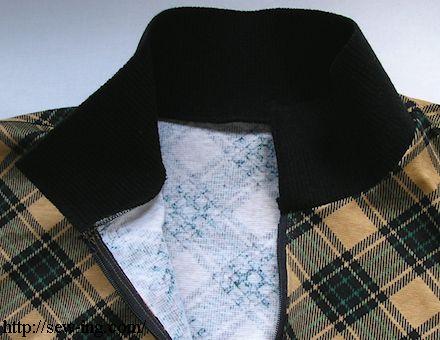 襟を縫いつける