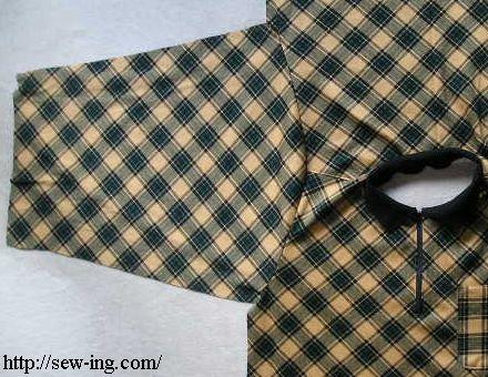 袖を縫いつける